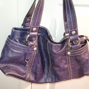 Fossil  Navy Blue leather satchel handbag